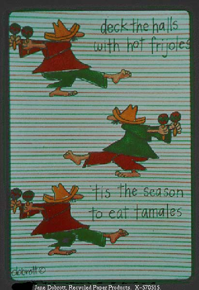 Language culture the front of this christmas card from the same series as the one featuring pablo the christmas chihuahua shows barefoot mexicans wearing huge bookmarktalkfo Gallery